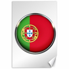 Portugal Flag Country Nation Canvas 24  X 36