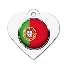 Portugal Flag Country Nation Dog Tag Heart (one Side)