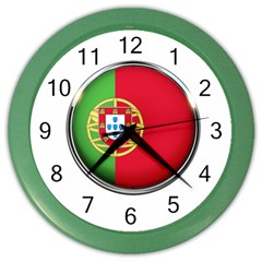 Portugal Flag Country Nation Color Wall Clocks
