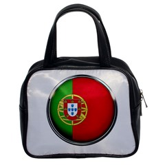 Portugal Flag Country Nation Classic Handbags (2 Sides)