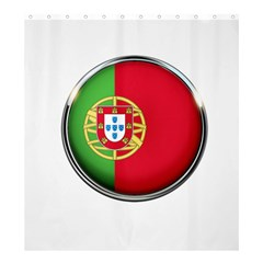 Portugal Flag Country Nation Shower Curtain 66  X 72  (large)