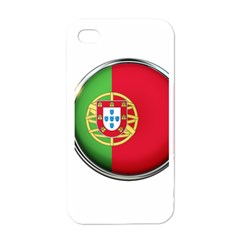 Portugal Flag Country Nation Apple Iphone 4 Case (white)
