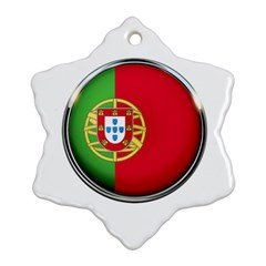 Portugal Flag Country Nation Snowflake Ornament (two Sides) by Nexatart