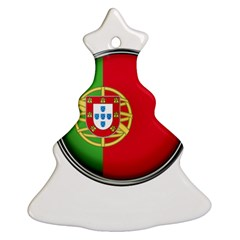 Portugal Flag Country Nation Christmas Tree Ornament (two Sides)