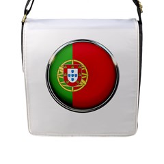 Portugal Flag Country Nation Flap Messenger Bag (l)