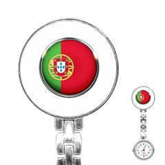 Portugal Flag Country Nation Stainless Steel Nurses Watch