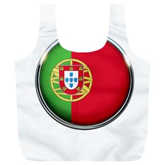 Portugal Flag Country Nation Full Print Recycle Bags (l)