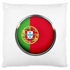 Portugal Flag Country Nation Standard Flano Cushion Case (one Side)