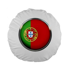 Portugal Flag Country Nation Standard 15  Premium Flano Round Cushions