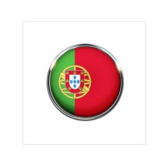 Portugal Flag Country Nation Small Satin Scarf (square)