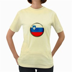Slovenia Flag Mountains Country Women s Yellow T Shirt