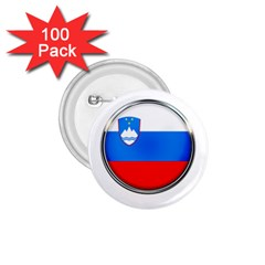 Slovenia Flag Mountains Country 1 75  Buttons (100 Pack)