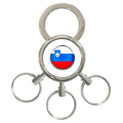 Slovenia Flag Mountains Country 3 Ring Key Chains