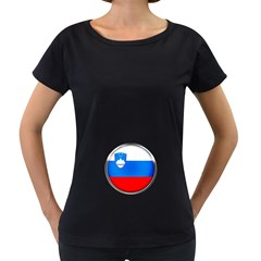Slovenia Flag Mountains Country Women s Loose Fit T Shirt (black)