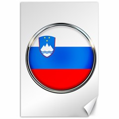 Slovenia Flag Mountains Country Canvas 20  X 30