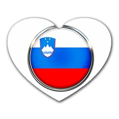 Slovenia Flag Mountains Country Heart Mousepads