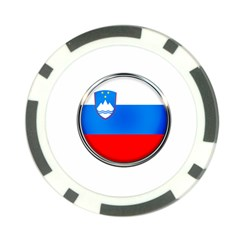 Slovenia Flag Mountains Country Poker Chip Card Guard