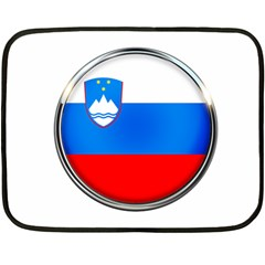 Slovenia Flag Mountains Country Double Sided Fleece Blanket (mini)