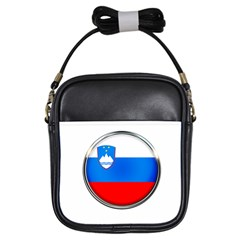 Slovenia Flag Mountains Country Girls Sling Bags