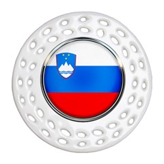 Slovenia Flag Mountains Country Round Filigree Ornament (two Sides)
