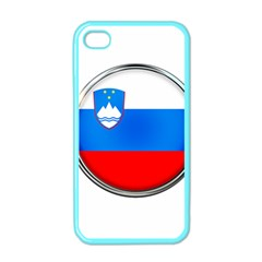 Slovenia Flag Mountains Country Apple Iphone 4 Case (color)