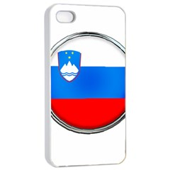 Slovenia Flag Mountains Country Apple Iphone 4/4s Seamless Case (white)