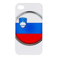 Slovenia Flag Mountains Country Apple Iphone 4/4s Premium Hardshell Case