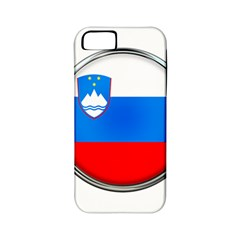 Slovenia Flag Mountains Country Apple Iphone 5 Classic Hardshell Case (pc+silicone)