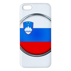 Slovenia Flag Mountains Country Apple Iphone 5 Premium Hardshell Case