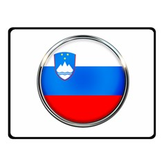 Slovenia Flag Mountains Country Double Sided Fleece Blanket (small)