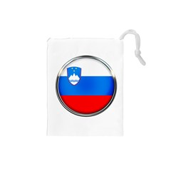 Slovenia Flag Mountains Country Drawstring Pouches (small)