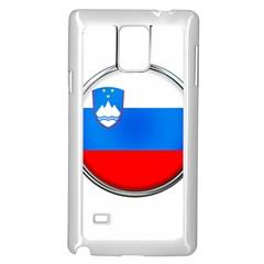 Slovenia Flag Mountains Country Samsung Galaxy Note 4 Case (white)