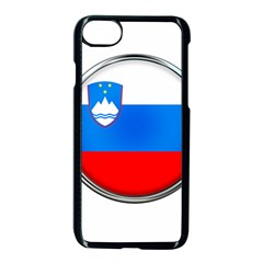 Slovenia Flag Mountains Country Apple Iphone 7 Seamless Case (black)