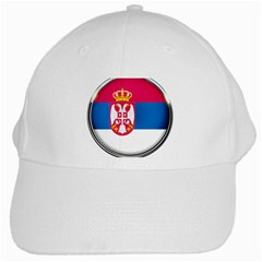 Serbia Flag Icon Europe National White Cap