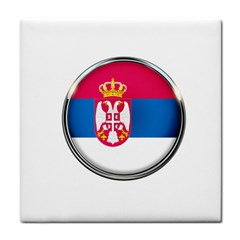 Serbia Flag Icon Europe National Tile Coasters