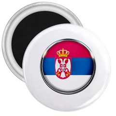 Serbia Flag Icon Europe National 3  Magnets by Nexatart