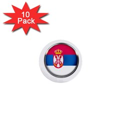 Serbia Flag Icon Europe National 1  Mini Buttons (10 Pack)  by Nexatart