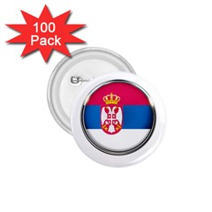 Serbia Flag Icon Europe National 1 75  Buttons (100 Pack)