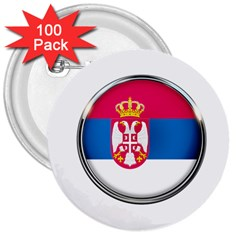 Serbia Flag Icon Europe National 3  Buttons (100 Pack)  by Nexatart