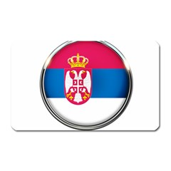 Serbia Flag Icon Europe National Magnet (rectangular)