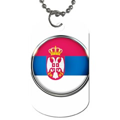 Serbia Flag Icon Europe National Dog Tag (one Side)