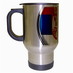 Serbia Flag Icon Europe National Travel Mug (silver Gray)