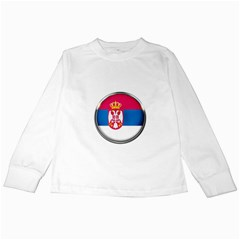 Serbia Flag Icon Europe National Kids Long Sleeve T Shirts
