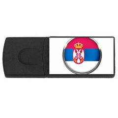 Serbia Flag Icon Europe National Rectangular Usb Flash Drive