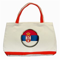 Serbia Flag Icon Europe National Classic Tote Bag (red)
