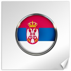 Serbia Flag Icon Europe National Canvas 12  X 12