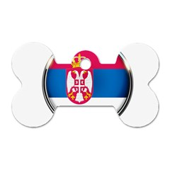 Serbia Flag Icon Europe National Dog Tag Bone (one Side)