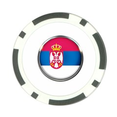 Serbia Flag Icon Europe National Poker Chip Card Guard