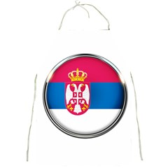 Serbia Flag Icon Europe National Full Print Aprons