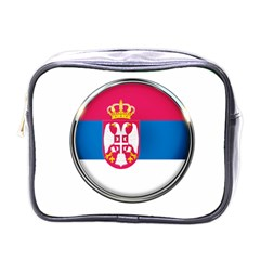 Serbia Flag Icon Europe National Mini Toiletries Bags